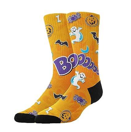 KYWYN Athletic Socks Happy Halloween Party 3D Compression Socks Long Crew  Socks 62b0cf08b