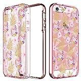BENTOBEN Phone Case for Apple iPhone SE/5S/5, Pretty Pineapple Cell Phone Cases, Slim
