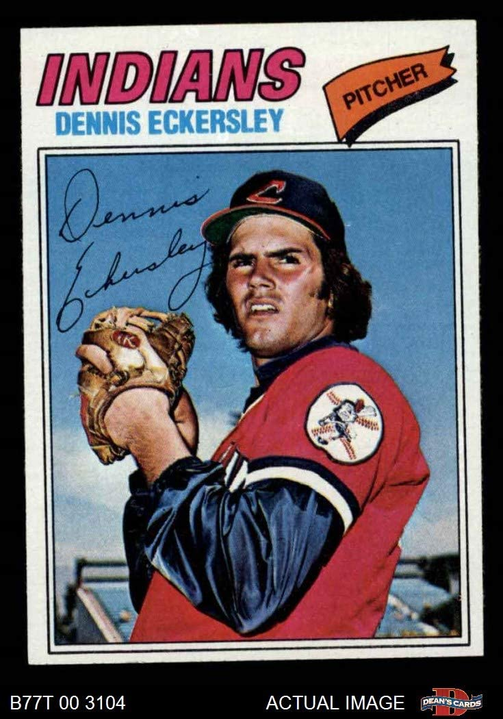 EX//MT Indians Deans Cards 6 1977 Topps # 525 Dennis Eckersley Cleveland Indians Baseball Card
