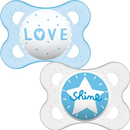 MAM Original Soothers Suitable 12 Months with Sterilisable Travel Case Pack of