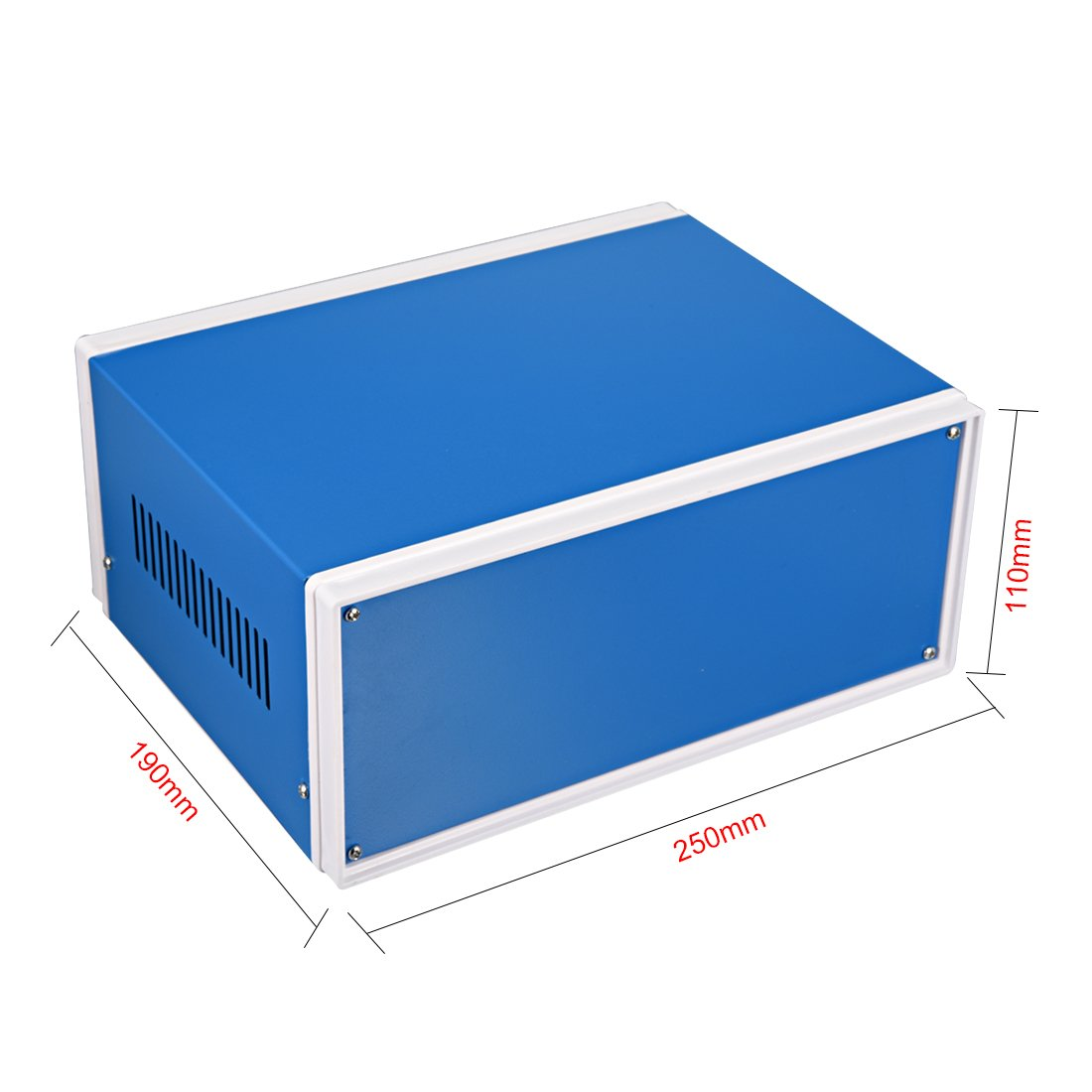 uxcell Metal Blue Project Junction Box Enclosure Case 200 x 165 x 90mm//7.87 x 6.5 x 3.54inch a18051400ux0049