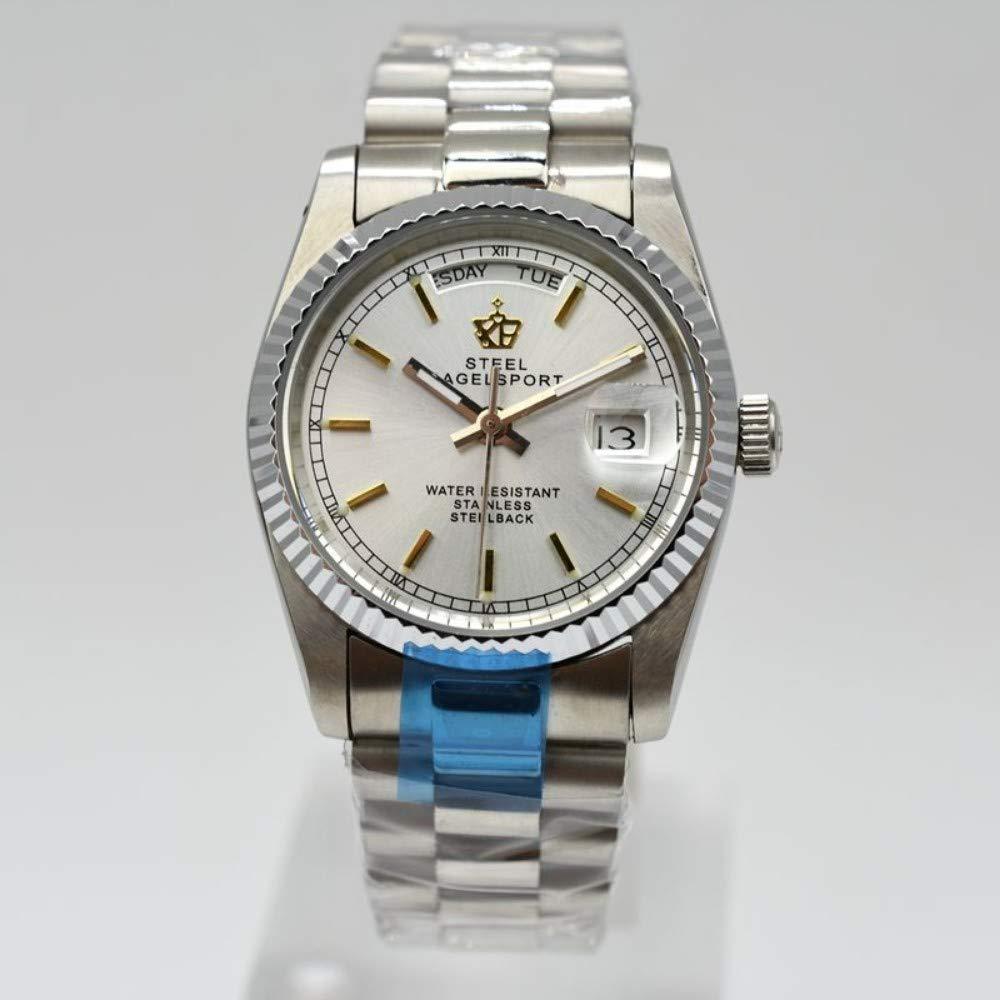 BINGABSFW Brand Luxus Automatische Mechanische Uhr Vollstahl M/ännliche Uhren Datum Hohe Qualit/ät Business Wasserdichte Herrenuhr
