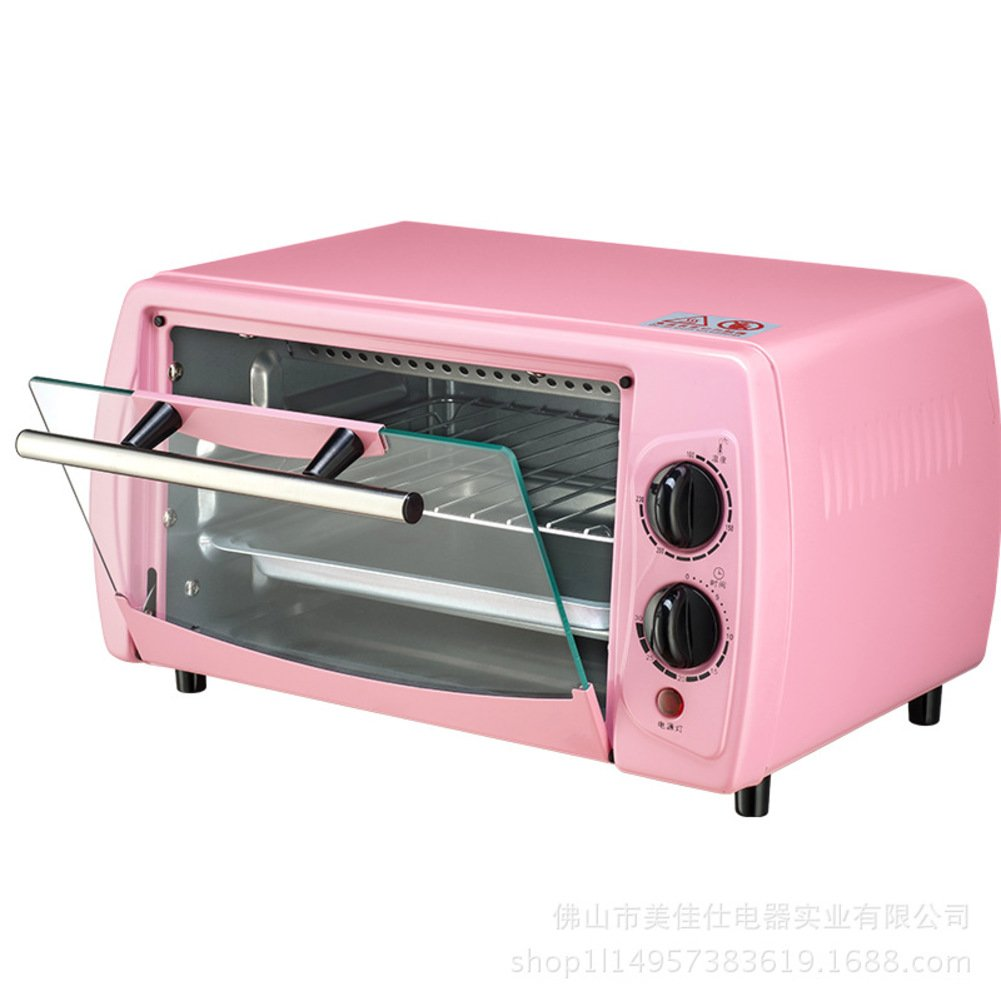 DULPLAY Toaster Oven, Best Convection, Mini, 12L, Capacity, Digital Dining, Countertop Oven Pink Digital Polished Stainless Toast Home Kitchen-pink 36x21x21cm(14x8x8inch)
