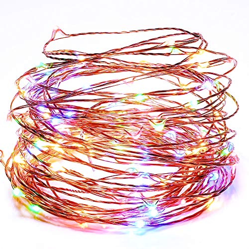 Led String Lights TechRise 10 - Meters Colorful 100 LEDS Star Starry Copper Wire Fairy String Lights For Holiday Party Wedding Christams Decoration - Multi Color