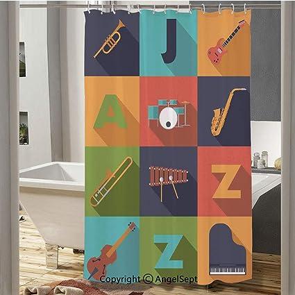 Amazon com: SfeatruCurtai Colorful All Jazz Equipment Set on