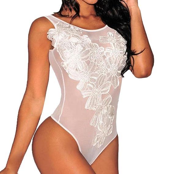 5cfa1d8241 Ropa de Interior Sexy♡Yesmile Ropa Interior del Club Lencería Sexy de Encaje  para Mujeres