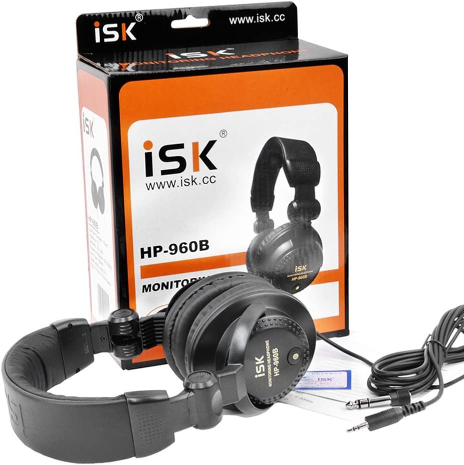 Amazon Com Isk Hp 960b Wired Headphones Hifi Computer Closed Ear Phones Monitor Electronics