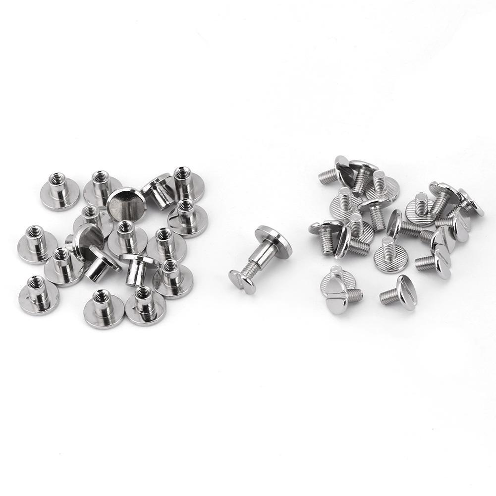 5mm 20 st/ücke Durable Messing Gewinde Flachkopf Mutter Nagel Nieten Schrauben Leder Handwerk Strap Griff Tasche Zubeh/ör