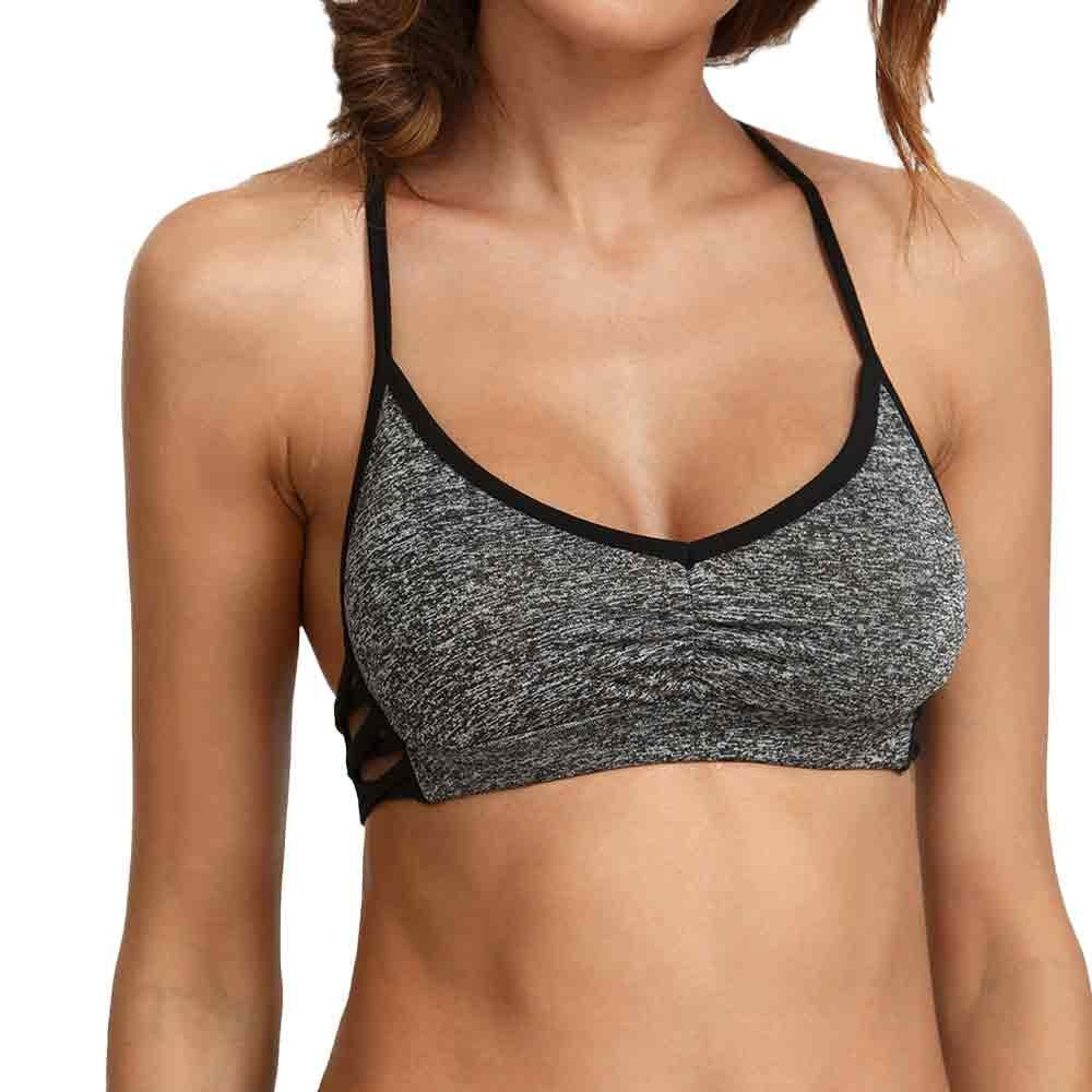 Spring Womens Sports Vest, SANNYSIS Ladies Crop Top Comfort Bra Stretch SANNYSIS_B397