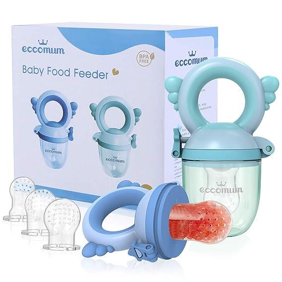 BPA Free Fruit Mesh Teething Fresh Food Feeder Baby Product Blue//Green Pack of 2