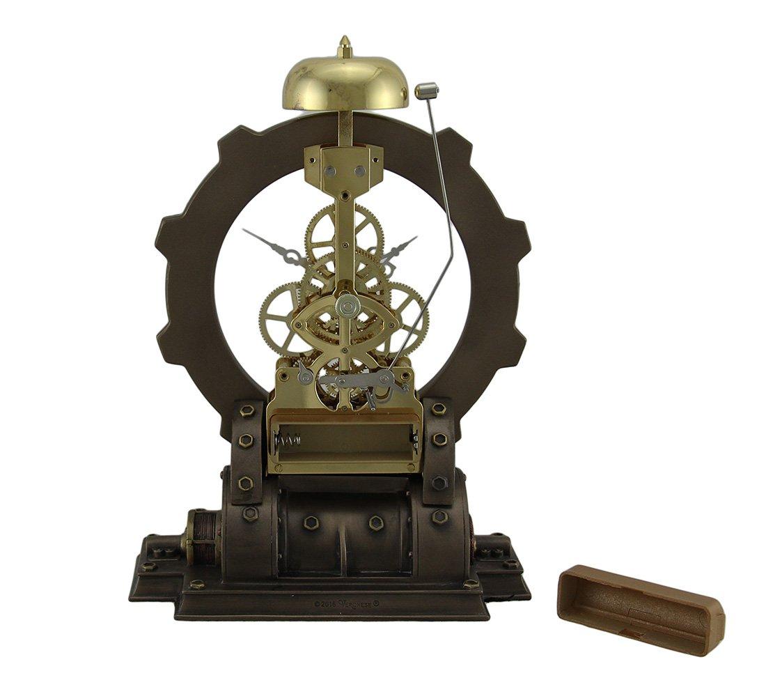 Metal & Resin Table Clocks Times Gate Metallized Steampunk Generator Desktop Striking Clock 6 X 8.5 X 4 Inches Bronze