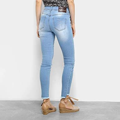 96466b62c Calça Jeans Skinny Colcci Cory Cintura Média Feminina - Azul Claro - 42