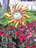Solar Powered Glass Crackle Stake Color Changing Light with New Shining Sun
