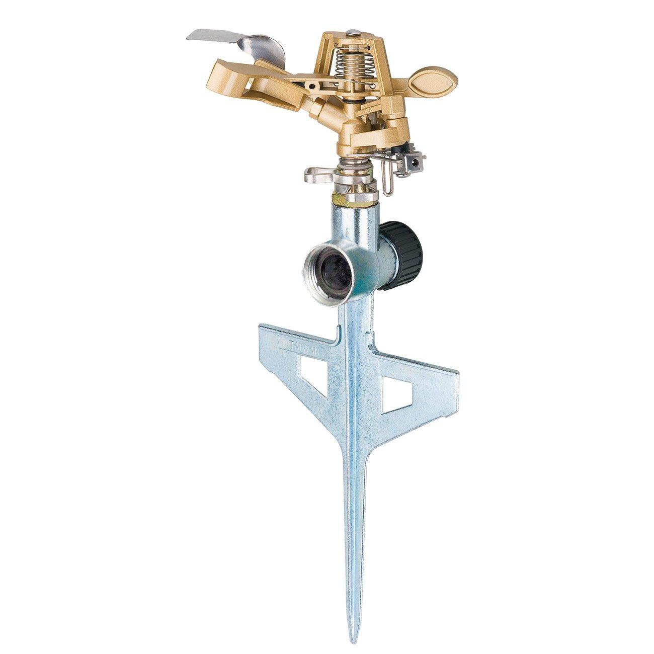 Melnor 9536H All Metal Pulsating Sprinkler with Step Spike