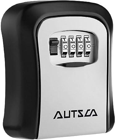 AUTSCA Caja fuerte para llaves, Caja de seguridad Combinación de 4 ...