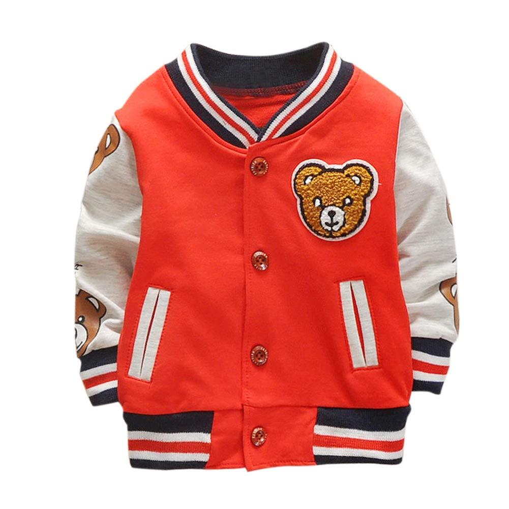 Urmagic Enfants Garçons Filles Vêtements Sweat Enfant Baseball Manteau de Marque pour Tout-Petit Printemps Automne Hiver Manteau Bébé Outwear