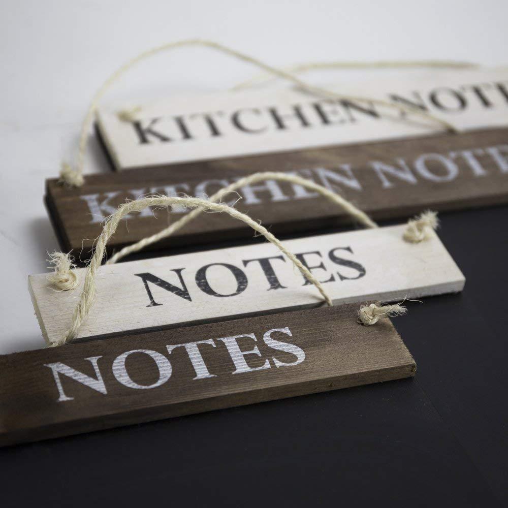 420/x 600/mm Colore: Marrone Chalkboards UK Kitchen Notes lavagnetta in Legno