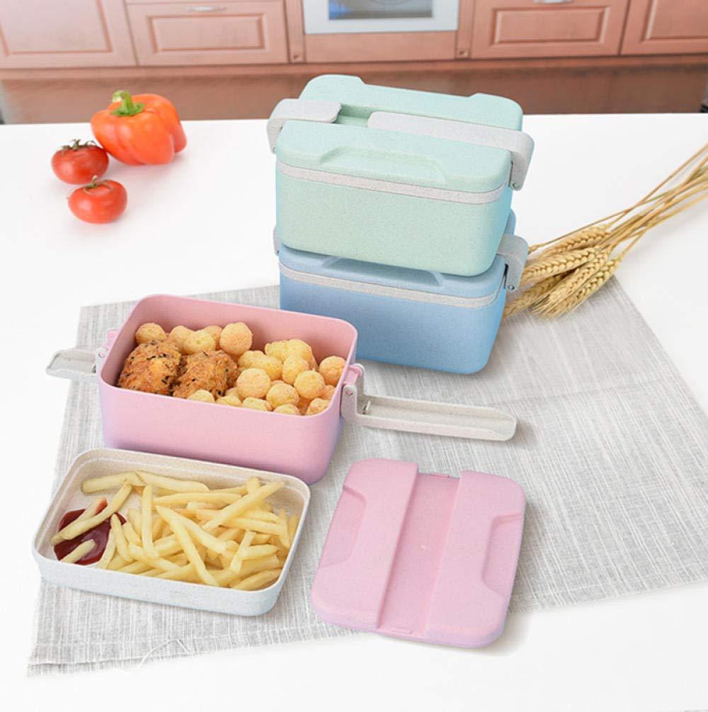 hiniwang Lunch Box Lunch Box Set Pranzo al Sacco in plastica Box Lunch Box Lunch Box Insalata Lunch Box@Blu stoviglie