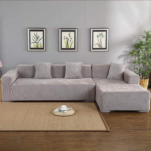 Fundas para Sofa Velvet 2Pcs Esquina Sofá Sala De Estar En ...