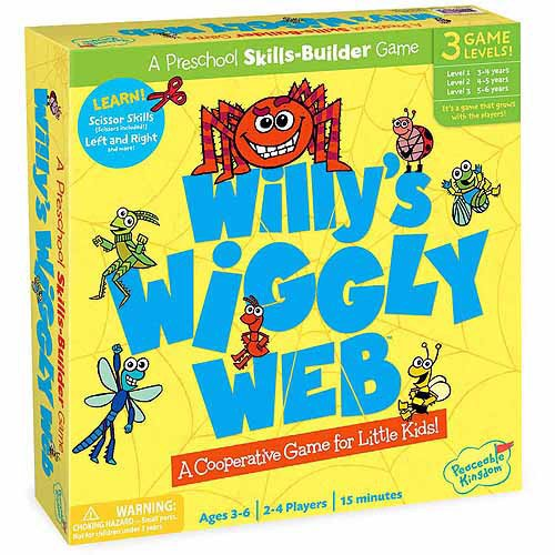 Peaceable Kingdom Willy's Wiggly Web Award Winning Preschool Skills Builder Game for Kids