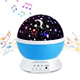 Amazon Price History for:Music Night Light Lullaby,YHZO Rechargeable Stars Moon projector Lamp, 4 LED Bulbs 9 Light Color Changing(3.2FT USB Cord) ,360 Rotation,12 songs ,Gift for Babies Children,Nursery(Blue)
