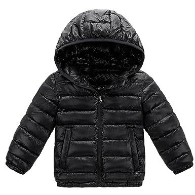 7b967e6eb Amazon.com  Baby Boy Girl Winter Puffer Coat Toddler Cotton-padded ...