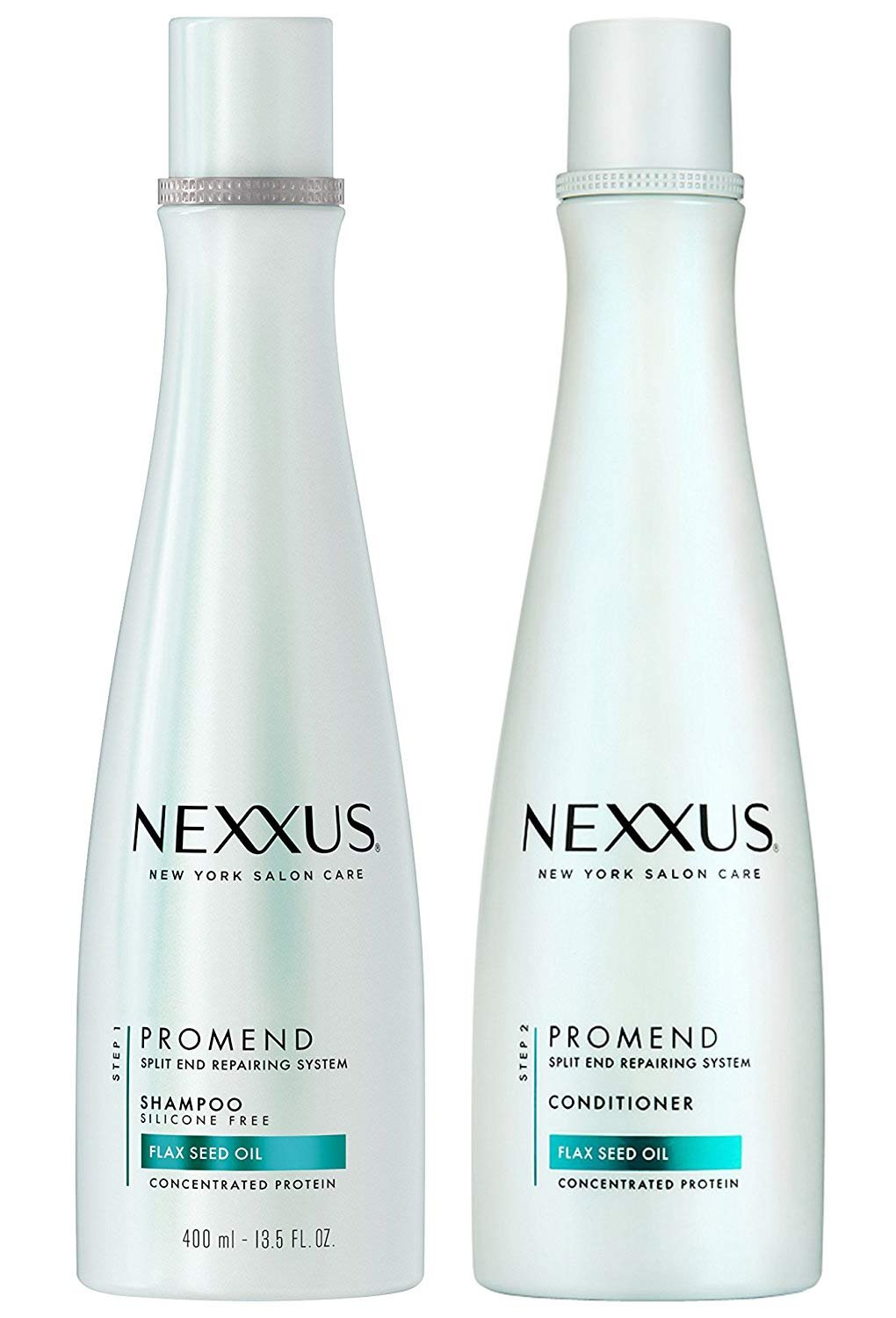 Nexxus PROMEND Split End Repairing System FLAX SEED OIL Concentrated Protein Shampoo and Conditioner, Duo Set 13.5 oz EA