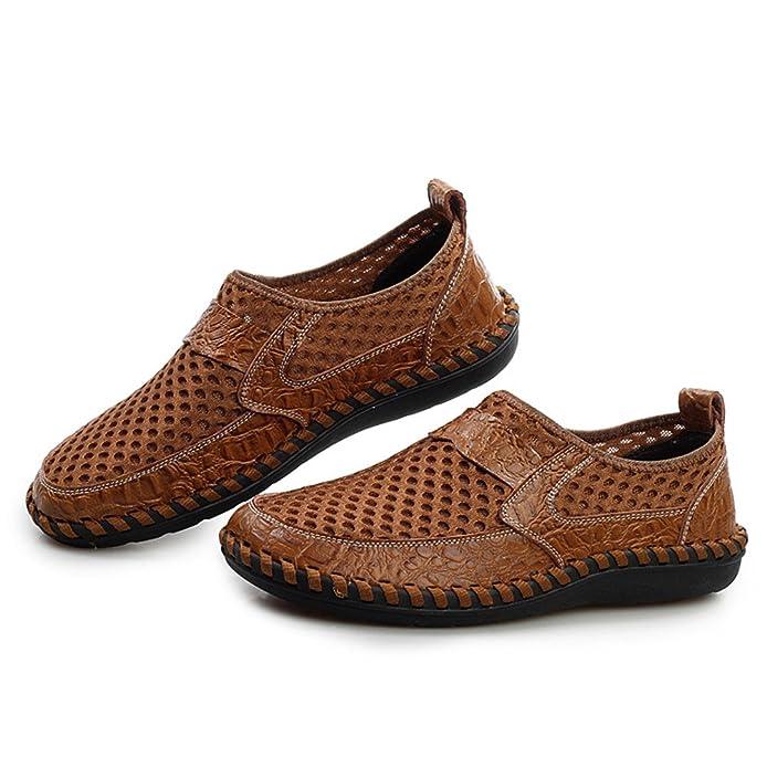 AgeeMi Shoes Hombre Slip-On Plano Transpirable Zapatillas,EuN04 Verdeoscuro 44