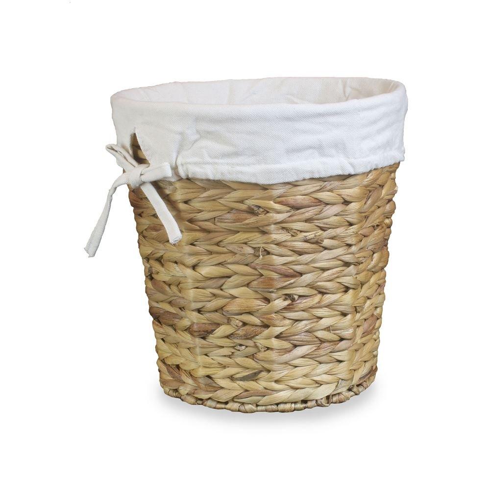 Water Hyacinth Lined Waste Paper Bin