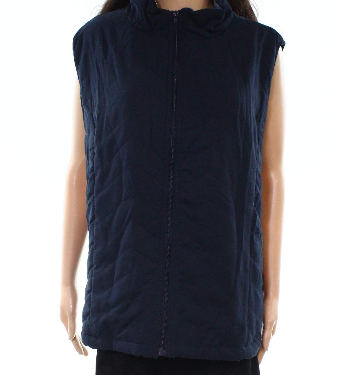 UNIONBAY Supplies Womens Plus Quilted Vest Jacket Blue 2X