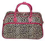 World Traveler 21-Inch Carry-On Shoulder Tote Duffel Bag, Pink Trim Leopard, One Size Review