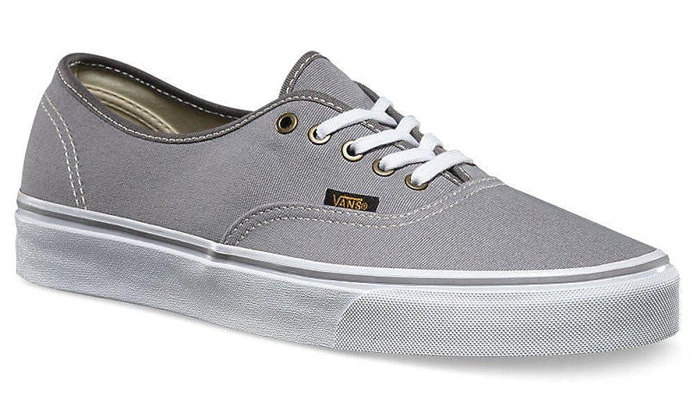 Vans Authentic Grey White Mens Canvas Skate Trainers Shoes-7  Amazon.co.uk   Shoes   Bags f15b75c4d