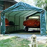 Rhino Shelter Instant Garage House Style 12x20x8 - Green - BMC-MDM 84803