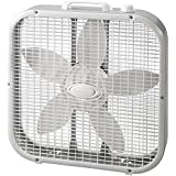 Lasko 20 inch 3 Quiet Speed Durable Plastic Metal Portable Cooling Fan- White