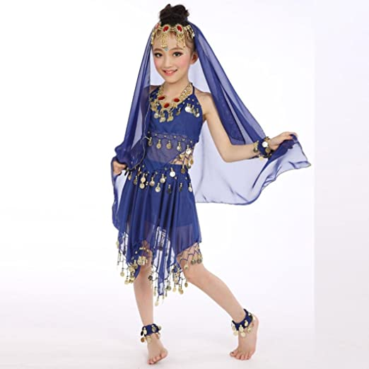 e79ee63490be Handmade Children Girl Dance Costumes,Matoen Belly Kids Belly Dancing Egypt  Dance Cloth Outfit (