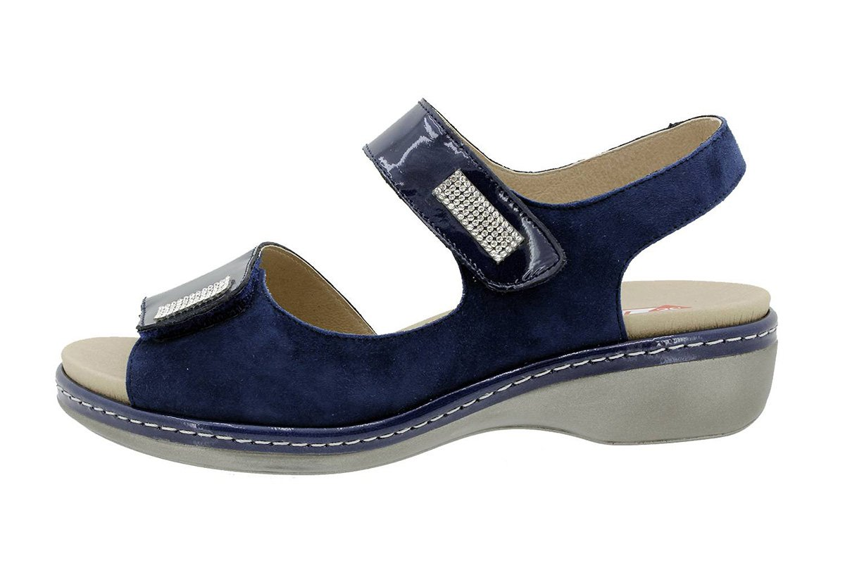 PieSanto Sandale mit Herausnehmbarem Fuszlig;bett 180818 Komfort Damenlederschuh  42 EU|Charol Marino