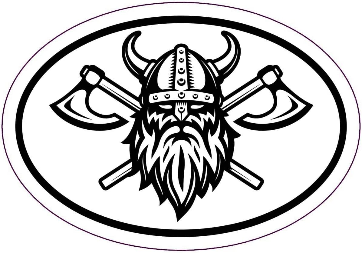 Perfect Scandinavian Gift Norse Bumper Sticker WickedGoodz Oval Viking Warrior Decal