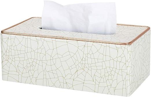 GORESE - Funda rectangular de piel para caja de pañuelos: Amazon ...