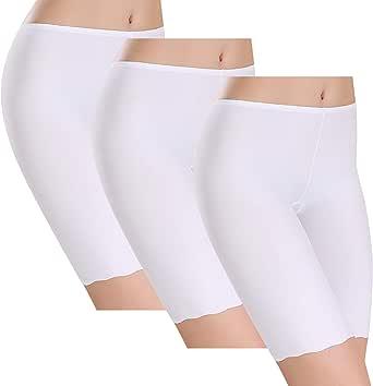 UMIPUBO Bragas Algodon Mujer Seda de Hielo Boxer Short Leggings Cortos Basic Long Pantalon Falda Leotardos de Seguridad Ropa Interior Pack de 3: Amazon.es: Ropa y accesorios