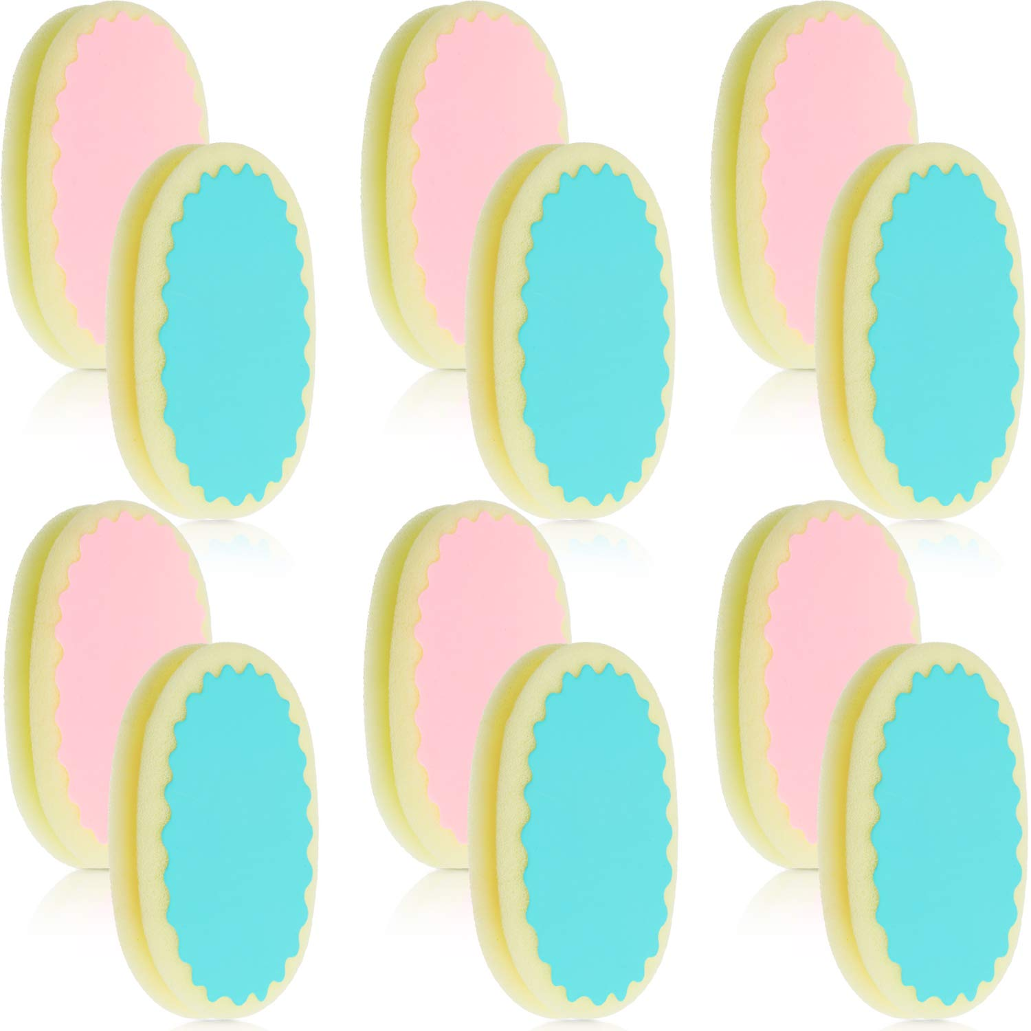 12 Pieces Hair Remover Sponge Depilation Sponge Pad Painless Hair Removal Sponge Pads for Face, Lip, Arm, Chin and Leg