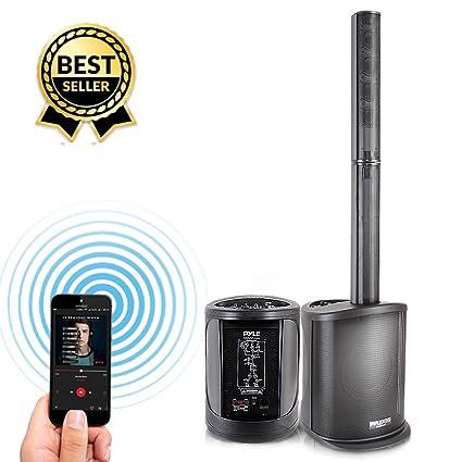 Digital Audio Speaker Tower Amplifier - 400 Watt Floor Standing Wireless  Stereo Stage Tower Speaker System with 8