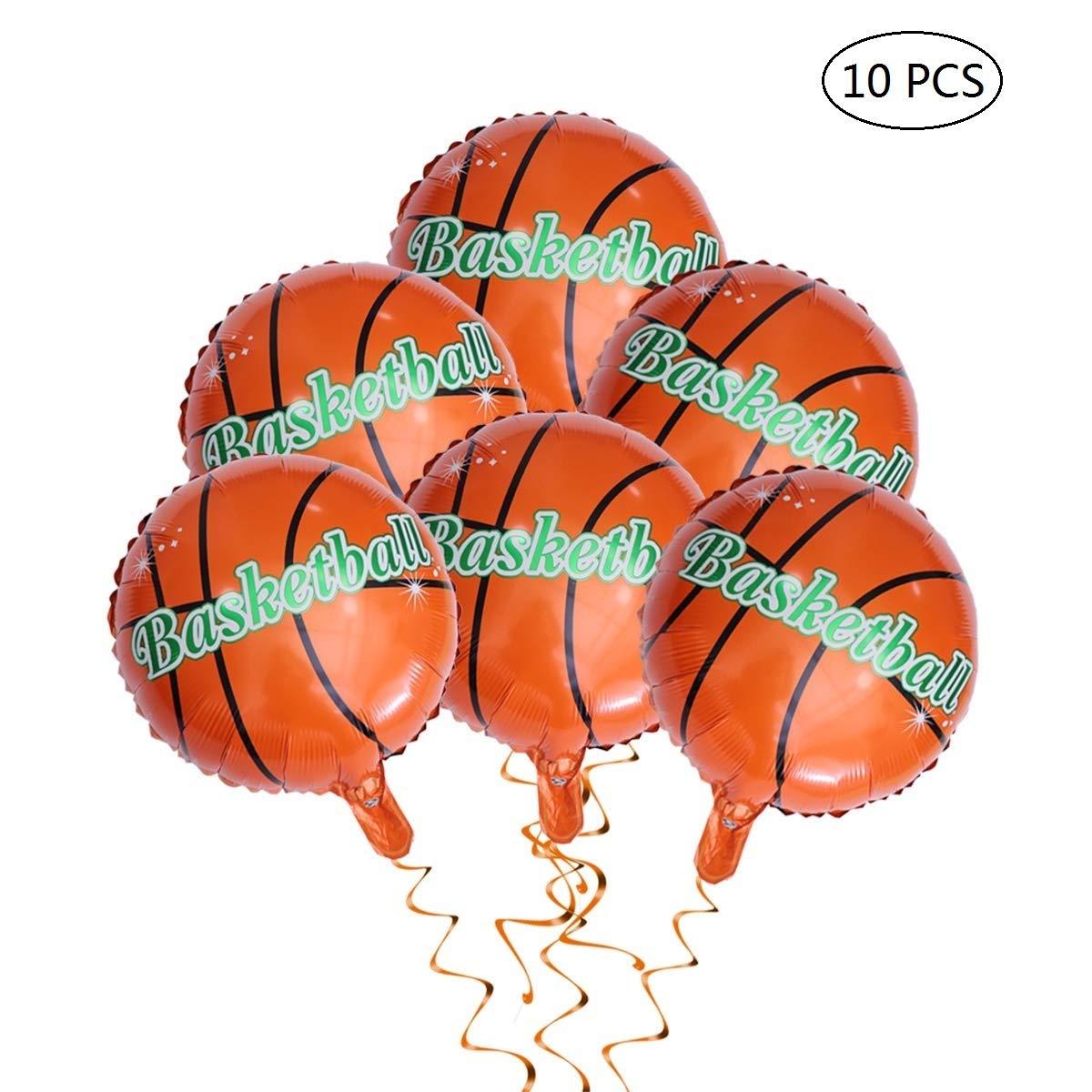 Creaides Globos de baloncesto helio redondo globos para cumpleaños ...