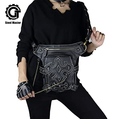 Amazon Com Steel Master Retro Leg Holster Bags Punk Waist Bag For