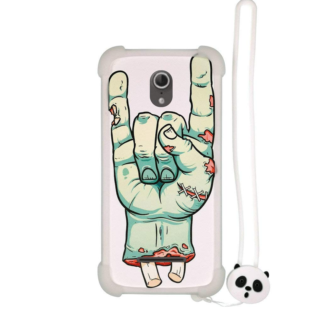 Amazon.com: Case for Vodafone 890N Smart 4 Turbo Case Silicone Border + PC Hard backplane Stand Cover Luminous Effect SZ: Cell Phones & Accessories