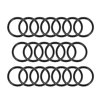 Black 70 Durometer 1mm Cross Section 1x10mm Metric Buna-N NBR O-Rings Bulk 10mm x 1mm 12mm OD 10mm ID 50 Pack//Pieces