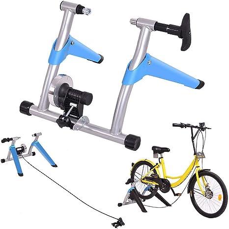 GSTARKL Entrenamiento Bicicleta Rodillo, Bicicleta Magnética Turbo Trainer Bicicleta de montaña Interior Plegable Bicicleta de Carretera Fijo Entrenador: Amazon.es: Deportes y aire libre