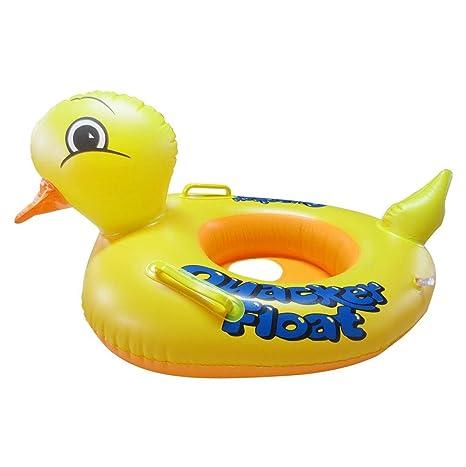 newkelly bebé amarillo pato natación Anillo Flotador Balsa inflable para piscina playa