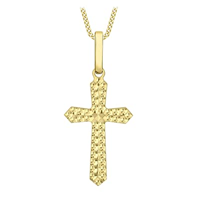 Carissima Gold 9ct Yellow Gold Cross Pendant of 2.7cm/1
