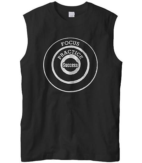 b8a42e230a1384 Cybertela Men s Focus Practice Success Target Motivation Sleeveless T-Shirt  (Black