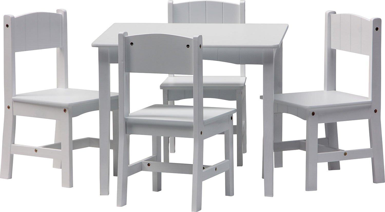 IB-Style - Set di mobili per Bambini Enzo   5 Pezzi   Set Composto da Tavolo per Bambini e 4 sedie